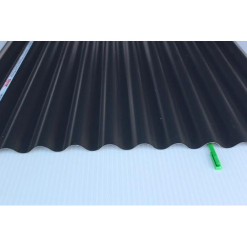 Шифер ПВХ Салюкс 2,0х0.9м (76х18мм) Черный