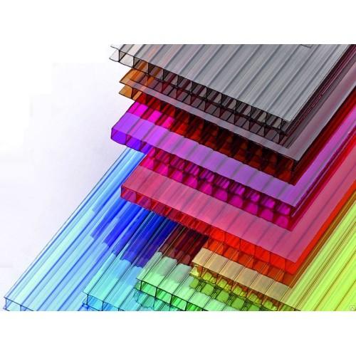 Сотовый поликарбонат цветной 6мм, 2.1х6м